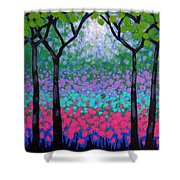 Six Trees Shower Curtain