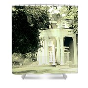Sixty One Ghosts Live Here Shower Curtain