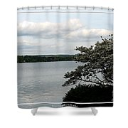 Skaneateles Lake In Ny Finger Lakes Water Color Effect Shower Curtain