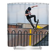 Skateboarding Ix Shower Curtain