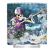 Skelet Oar Shower Curtain
