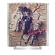 Skeleton Bride And Groom Shower Curtain