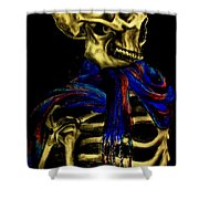 Skeleton Fashion Victim Shower Curtain
