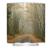 Skeltons Of Fall Shower Curtain
