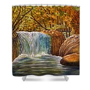 Skelwith Force Waterfall - Lake District Shower Curtain