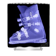 Ski Boot Shower Curtain