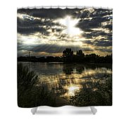 Skies Wide Open Shower Curtain