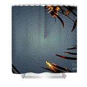 Skimmer Ripple Abstract Shower Curtain
