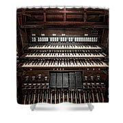 Skinner Pipe Organ Shower Curtain