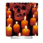 Skull And Candles Shower Curtain