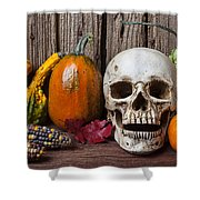 Skull And Gourds Shower Curtain