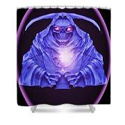 Skull Orb Shower Curtain