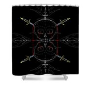 Skulls And Daggers Shower Curtain