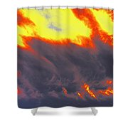 Sky A Flame Shower Curtain