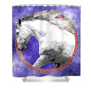 Sky Andalusian Shower Curtain
