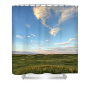 Sky At Sunset, Grasslands National Shower Curtain