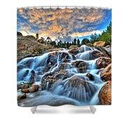 Sky Blue Falls Shower Curtain