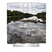 Sky In The Water Shower Curtain
