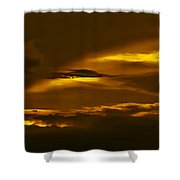 Sky Of Golden Fleece Shower Curtain