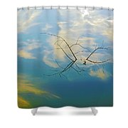 Sky On Water Shower Curtain by Brian Wallace