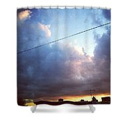 Sky Right Now Shower Curtain by Katie Cupcakes