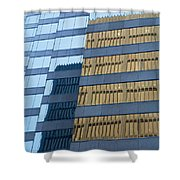 Sky Scraper Tall Building Abstract With Windows And Reflections No.0102 Shower Curtain
