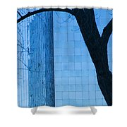 Sky Scraper Tall Building Abstract With Windows Tree And Reflections No.0066 Shower Curtain