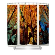 Sky-trees Montage Shower Curtain