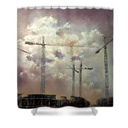 Sky With Clouds Shower Curtain