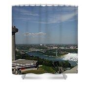 Skylone Tower And Niagara Falls Shower Curtain