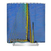 Skyway Crossing Shower Curtain by David Lee Thompson