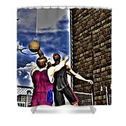 Slammed Shower Curtain by Michael Stowers