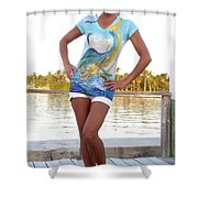 Slammer Ladies Shirt Shower Curtain