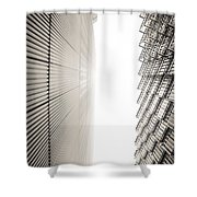 Slatted Window Architecture Shower Curtain