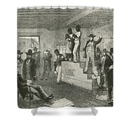 Slave Auction, 1861 Shower Curtain by Photo Researchers