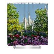 Slc Temple Flowers Shower Curtain