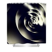 Sleek Modern Snail Shower Curtain