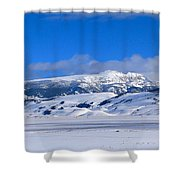 Sleeping Indian Shower Curtain