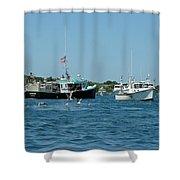 Sleepy Boats At Chatham - Cape Cod  Ma Shower Curtain