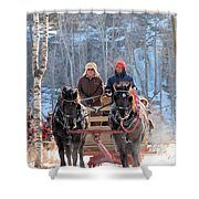 Sleigh Ride In The Frontenac Axis Shower Curtain
