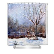 Sleigh Ride Shower Curtain