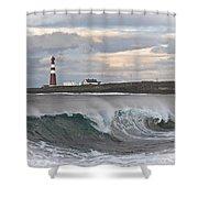Slettnes Beacon  Shower Curtain