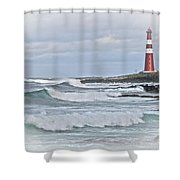 Slettnes Fyr Shower Curtain