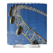 Slice Of The Wheel Of London Eye From An Angle Shower Curtain