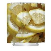 Slices Of Lemon Shower Curtain