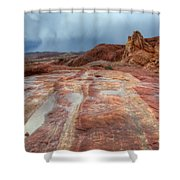 Slickrock Shower Curtain by Bob Christopher