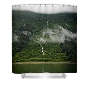 Slim Waterfall From The Haze Shower Curtain