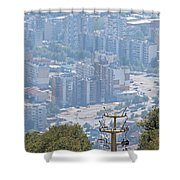 Sliven Bulgaria From Chair Lift Shower Curtain