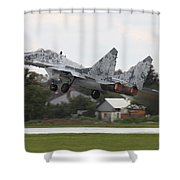 Slovak Air Force Mig-29 Fulcrum Taking Shower Curtain