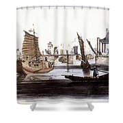 Sluice In China, 1800 Shower Curtain